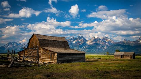 landscape barns mountain wallpapers hd desktop and