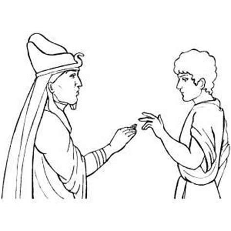 coloring pages joseph and pharaoh free coloring pages of joseph and pharoah