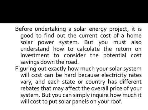 average cost of home solar system current cost of a home solar power system