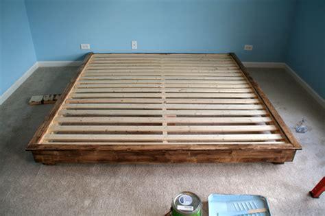 Build Your Own Bed Frame by King Size Bed Frame Diy Diy Furniture King