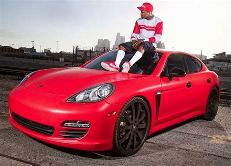 yg red porsche panamera rapper yg gets his porsche panamera ready for dub magazine