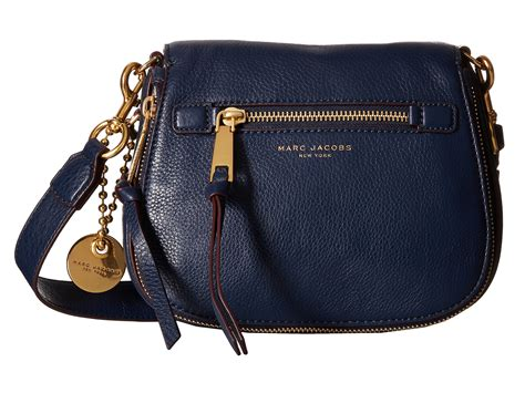 marc jacobs recruit small saddle bag  blue lyst