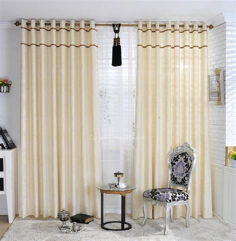 Simple Curtains For Living Room Sewing Simple Curtains In Light Yellow For Living Room Of
