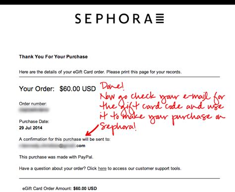 Sephora Gift Card Amount - smart hack diy how to use paypal on sephora r k c southern