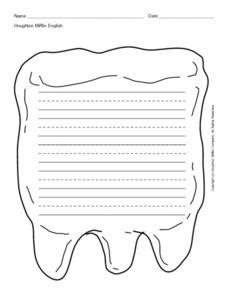 Tooth Writing Template by Losing Teeth Lesson Plans Worksheets Reviewed By Teachers