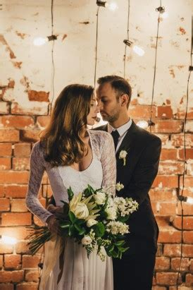 industrial candlelit wedding inspiration polka dot bride