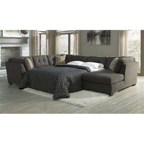 american furniture warehouse sleeper sofa 3pc sleeper raf chaise steel american furniture