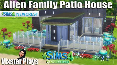 The Sims 4 Building   Newcrest Alien / Scientist Family