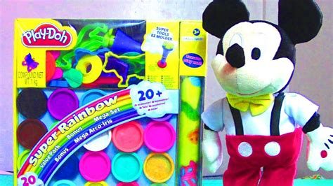 Canister Set For Kitchen by Play Doh Super Rainbow Mega Playset With Mickey Mouse