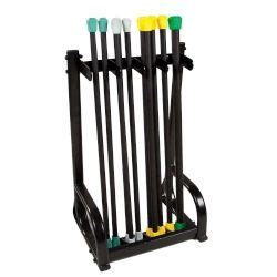 Resistance Band Rack by Aerobic Bar Vertical Storage Rack Black Mountain Products
