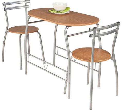 buy home vegas oak effect dining table and 2 chairs at