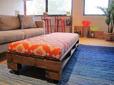 ottoman from pallet custom built upholstered pallet ottoman for the home