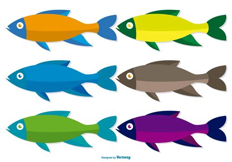 Colourful Basic Clip colorful fish vector set free vector stock