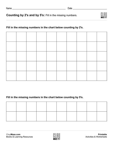 free printable math worksheets counting by 5 worksheet counting by 5s chart yaqutlab free worksheet