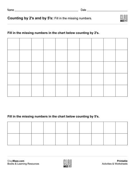 counting by fives worksheets free printables worksheet