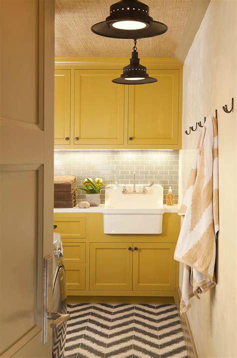 yellow laundry room yellow and gray laundry room contemporary laundry room borsari