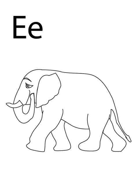 coloring page for the letter e coloring pages letter e