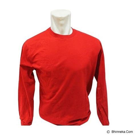 Atasan Kaos Merah jual bkp kaos polos lengan panjang size s merah murah bhinneka