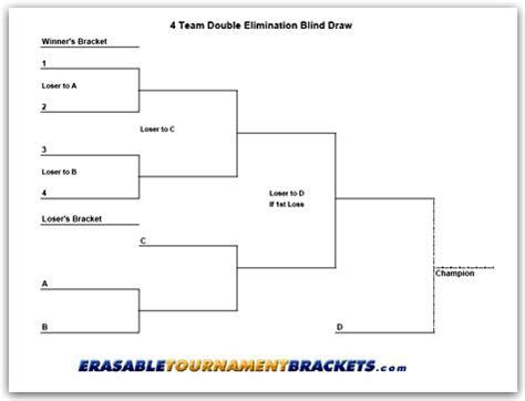 printable 4 name baby girl tournament bracket 4 team double blind draw tournament brackets cornhole