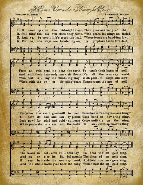 printable vintage christmas sheet music 6 best images of printable christmas sheet music free