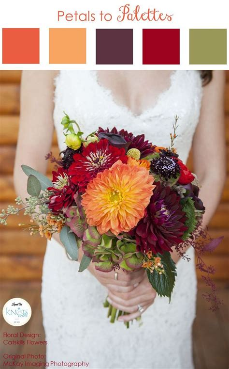 Fall Wedding Bouquets by Fall Wedding Bouquet Petals To Palettes 18 Knotsvilla