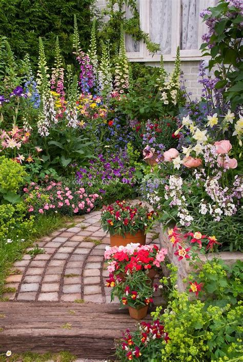 tiered garden path  raised bed borders  fragrant