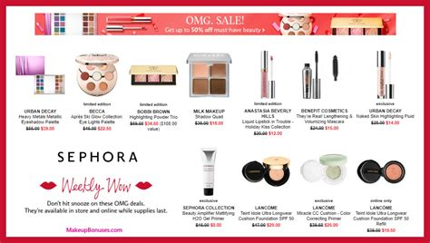 Deal Of The Week 15 At Benefit Cosmetics by Sephora Weekly Wow Discount Sale Offers Makeup Bonuses