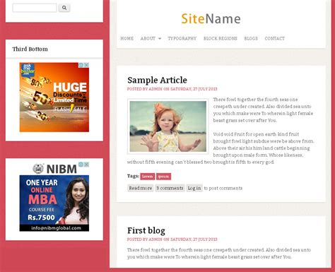 theme drupal blog classic blog free drupal theme freedownload web design