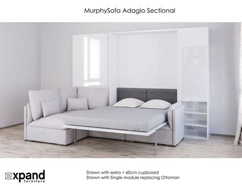 Wall Beds With Sofa Murphysofa Adagio Luxury Sectional Sofa Wall Bed Expand Furniture Folding Tables