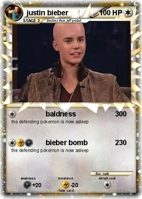 justin bieber cards pok 233 mon justin bieber 877 877 baldness 300 my card