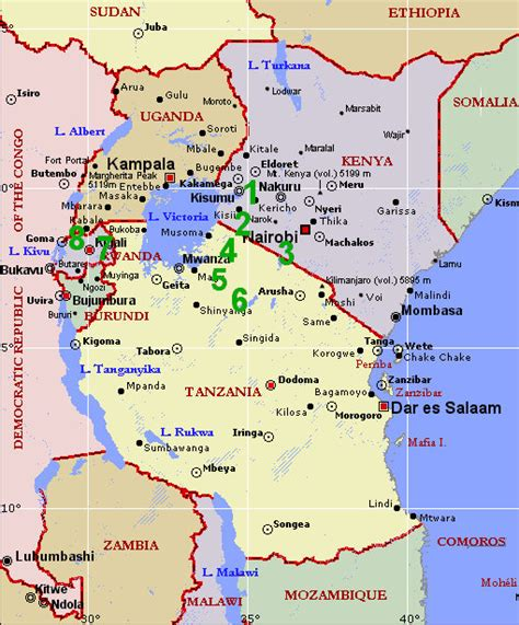 tanzania east africa map campinglifestyle
