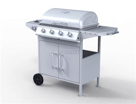 backyard grill 4 burner gas grill foxhunter g2087d 4 burner bbq gas grill silver steel