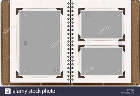 templates for photo album pages aged open photo album blank pages with retro photo frames