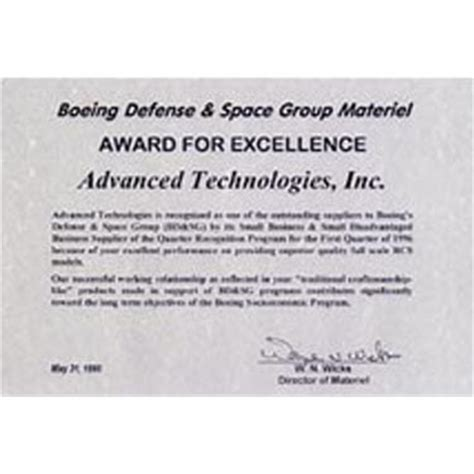 Small Business Management 18ed advanced technologies inc aerospace industry awards george m low recipients