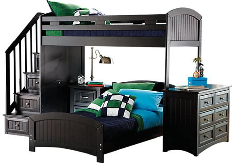 rooms to go bunk bed cottage color alternate s black twin twin step loft with 19643 | cottage colors black twin twin step loft with dresser 525x366 3629801P