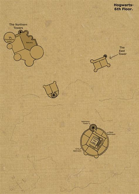 Map Of Hogwarts Castle All Floors by Theorized Floor Plan Of Hogwarts Castle 6th Floor By