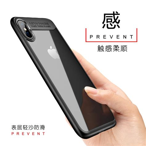 Hs Transparent Fitted Protective Hardcase For Iphone X transparent fitted protective hardcase for iphone x black jakartanotebook