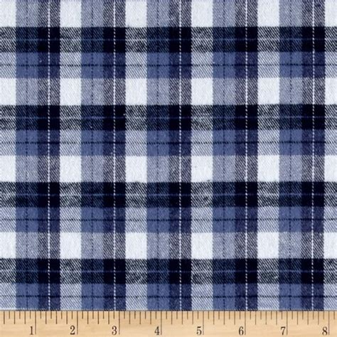 Kemeja Pria Tartan White Blue yarn dyed flannel plaid blue white discount designer fabric fabric