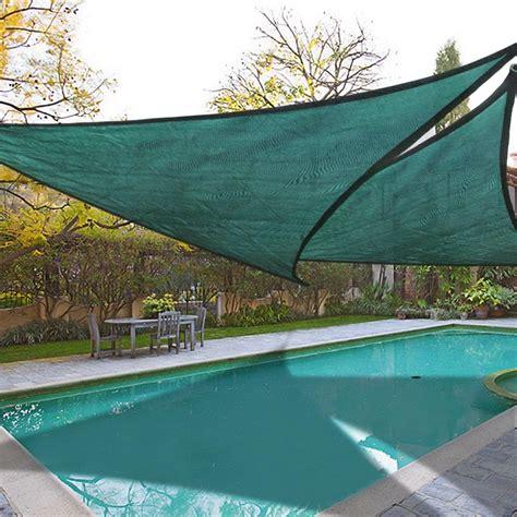 Triangle Sun Shades For Patios by 2x 16 5 Triangle Sun Shade Sail Patio Deck Garden