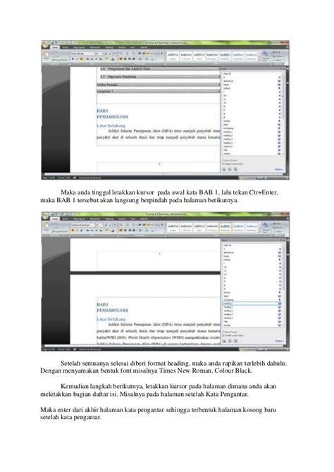 Cara Membuat Daftar Isi Otomatis Pada Microsoft Office Word 2010 | cara membuat daftar isi otomatis pada microsoft office