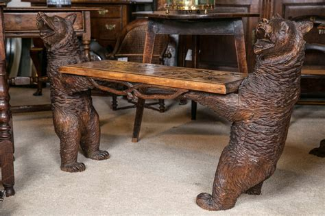 bear bench black forest black bear bench at 1stdibs
