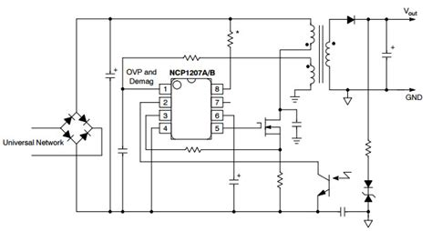 Ncp1207a ncp1207a typical application reference design dc to dc