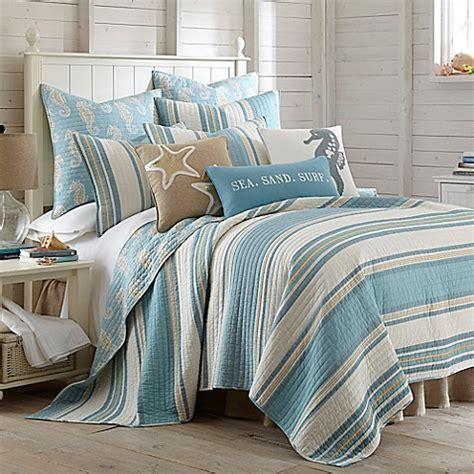levtex home blue maui reversible quilt set bed bath
