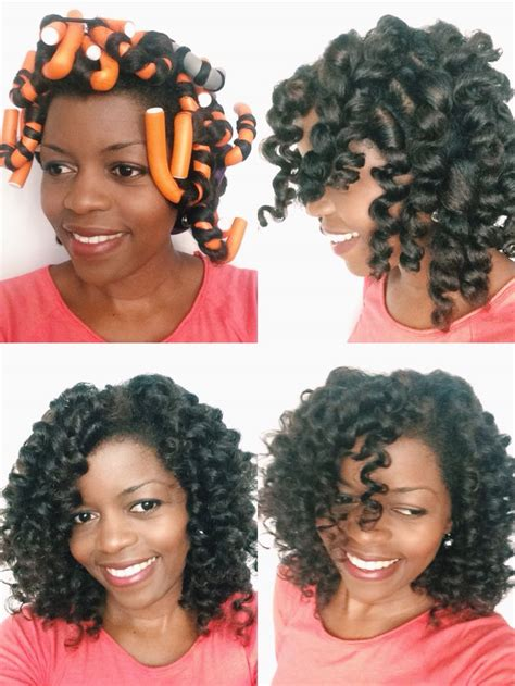 good curl enhancers for transitioning hair flexi rod set on dry natural hair by misst1806 done on