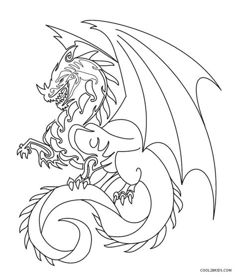 cool dragons free colouring pages