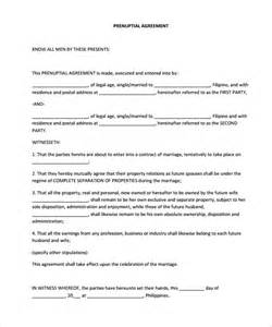 Prenuptial Agreements Templates by Prenuptial Agreement Canada Templates Prenuptial