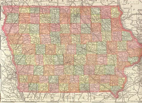 state of iowa map the usgenweb archives digital map library iowa maps index