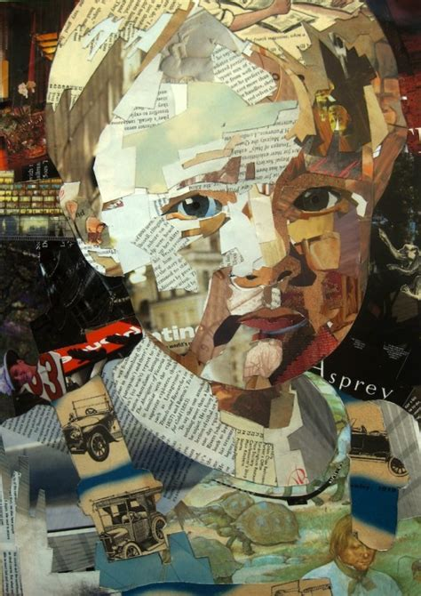 How To Make Paper Collage - bremer collages born out of portrait painting