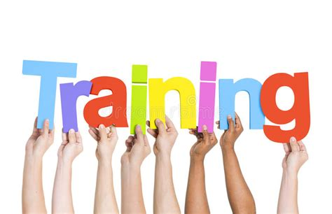 tutorial word xl hands holding colorful word training stock photo image