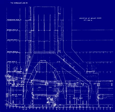 blueprint of a room the design of titanic ultimate titanic